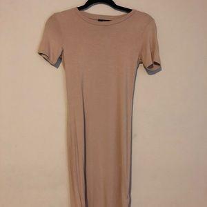 Camel T-shirt body con